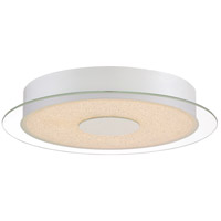 Platinum Moonlit LED 14 inch White Lustre Flush Mount Ceiling Light