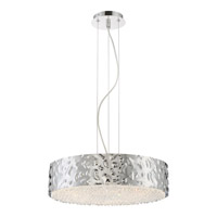 Platinum Mercury 6 Light 18 inch Polished Chrome Foyer Pendant Ceiling Light in Clear G9 Xenon