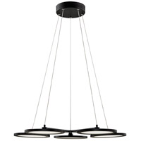 Quoizel PCNR5027MBK Nitro LED 27 inch Matte Black Chandelier Ceiling Light