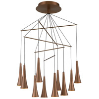 Quoizel PCNX5010SG Nexus LED 28 inch Satin Copper Chandelier Ceiling Light