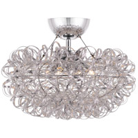 Platinum Pageant 3 Light 16 inch Polished Chrome Semi-Flush Mount Ceiling Light