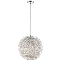 Platinum Pageant 4 Light 16 inch Polished Chrome Foyer Pendant Ceiling Light