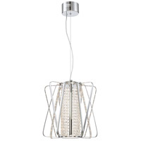 Platinum Pillar LED 15 inch Polished Chrome Pendant Ceiling Light