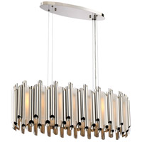 Platinum Pipeline 8 Light 32 inch Polished Nickel Island Chandelier Ceiling Light