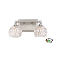 Quoizel Platinum Serena 2 Light Bath Light in Brushed Nickel PCSA8602BNLED
