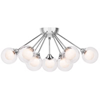 Platinum Spellbound 9 Light 22 inch Polished Chrome Semi-Flush Mount Ceiling Light