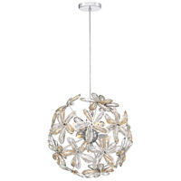 Platinum Starglow 7 Light 17 inch Polished Chrome Pendant Ceiling Light