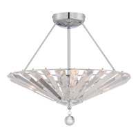 Quoizel Platinum Superior 4 Light Semi-Flush Mount in Polished Chrome PCSP1718C