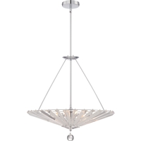 Platinum 6 Light 23 inch Polished Chrome Foyer Pendant Ceiling Light