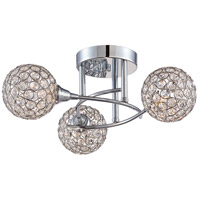 Quoizel PCSR1716C Platinum Shimmer 3 Light 18 inch Polished Chrome Semi-Flush Mount Ceiling Light