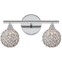 Quoizel Platinum Shimmer 2 Light Bath Light in Polished Chrome PCSR8602C