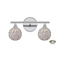 Platinum Shimmer LED 14 inch Polished Chrome Bath Light Wall Light in Frosted LED G9