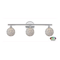 Platinum Shimmer LED 23 inch Polished Chrome Bath Light Wall Light in Frosted LED G9