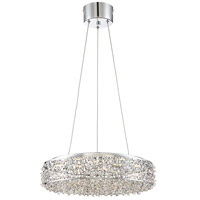 Platinum Starlet LED 18 inch Polished Chrome Pendant Ceiling Light