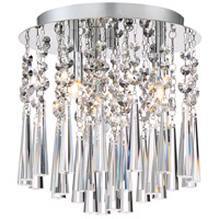 Platinum Tower 3 Light 10 inch Polished Chrome Flush Mount Ceiling Light