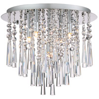 Platinum Tower 5 Light 16 inch Polished Chrome Flush Mount Ceiling Light