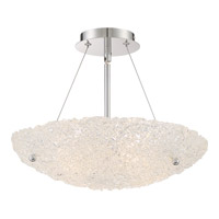 Platinum 4 Light 16 inch Polished Chrome Semi-Flush Mount Ceiling Light in Clear G9 Xenon
