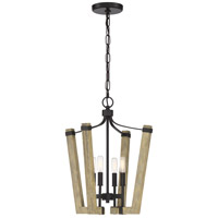 Quoizel PLN5204WT Plains 4 Light 17 inch Western Bronze Foyer Chandelier Ceiling Light