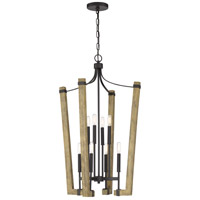 Quoizel PLN5208WT Plains 8 Light 22 inch Western Bronze Foyer Chandelier Ceiling Light
