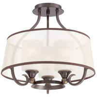 Quoizel Lighting Palmer 3 Light Semi-Flush Mount in Palladian Bronze PLR1716PN