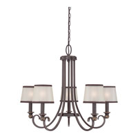 Quoizel PLR5005PN Palmer 5 Light 25 inch Palladian Bronze Chandelier Ceiling Light