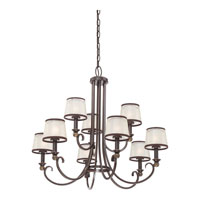 Quoizel Lighting Palmer 9 Light Chandelier in Palladian Bronze PLR5009PN