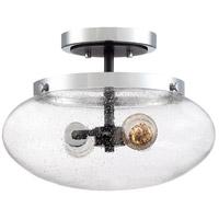 Quoizel PMT1714EK Piermont 2 Light 14 inch Earth Black Semi-Flush Mount Ceiling Light
