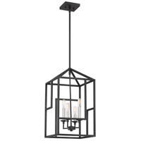Quoizel PON5204GK Portion 4 Light 12 inch Grey Ash Foyer Chandelier Ceiling Light