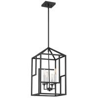 Quoizel PON5204GK Portion 4 Light 12 inch Grey Ash Foyer Chandelier Ceiling Light