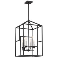Quoizel PON5206GK Portion 6 Light 16 inch Grey Ash Foyer Chandelier Ceiling Light