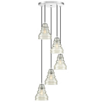 Quoizel PPY2705C Prophecy 5 Light 18 inch Polished Chrome Pendant Ceiling Light