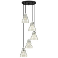 Prophecy 5 Light 17 inch Earth Black Pendant Ceiling Light