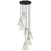Quoizel PPY2707EK Prophecy 7 Light 18 inch Earth Black Pendant Ceiling Light