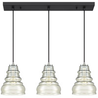 Quoizel PPY329EK Prophecy 3 Light 29 inch Earth Black Island Chandelier Ceiling Light