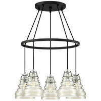 Prophecy 5 Light 25 inch Earth Black Chandelier Ceiling Light