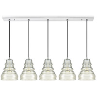 Quoizel PPY543C Prophecy 5 Light 43 inch Polished Chrome Island Chandelier Ceiling Light