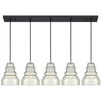 Quoizel PPY543EK Prophecy 5 Light 43 inch Earth Black Island Chandelier Ceiling Light