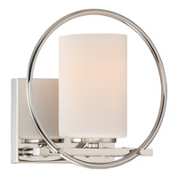 Parallel 1 Light 8 inch Polished Nickel Bath Light Wall Light