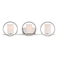 Quoizel Parallel 3 Light Bath Light in Polished Nickel PRL8603PK