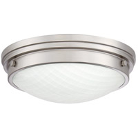 Quoizel PRT1612BN Port LED 12 inch Brushed Nickel Flush Mount Ceiling Light