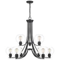 Quoizel PRUC5034MBK Pruitt 9 Light 34 inch Matte Black Chandelier Ceiling Light