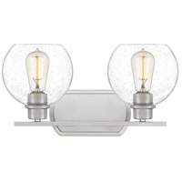 Brushed Nickel Pruitt Bathroom Vanity Lights
