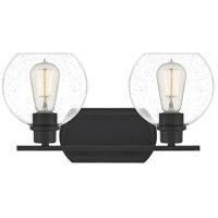 Quoizel PRUS8617MBK Pruitt 2 Light 17 inch Matte Black Bath Light Wall Light