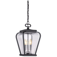 Quoizel Province 3 Light Outdoor Hanging Lantern in Mystic Black PRV1909K