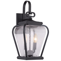 Province 2 Light 18 inch Mystic Black Outdoor Wall Lantern