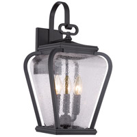 Province 3 Light 19 inch Mystic Black Outdoor Wall Lantern
