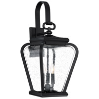 Province 3 Light 25 inch Mystic Black Outdoor Wall Lantern