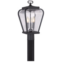 Quoizel Province 3 Light Outdoor Post Lantern in Mystic Black PRV9009K