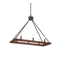 Quoizel Lighting Plantation 6 Light Island Light in Darkest Bronze PTN232DK