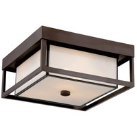 Quoizel PWL1613WT Powell 3 Light 13 inch Western Bronze Outdoor Semi-Flush Mount